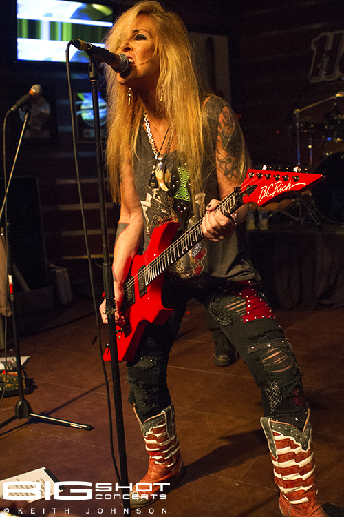 Lita Ford plays guitar in Hollywood. Florida