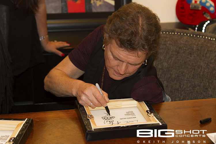 Rick Allen signs autographs at Wentworth Gallery in Boca Raton
