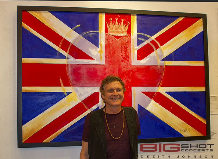 Union Jack flag and Rick Allen