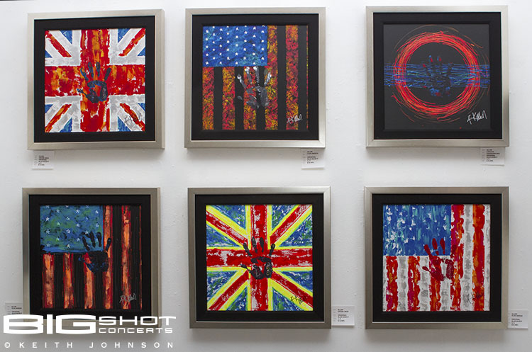 A variety of flag art on display