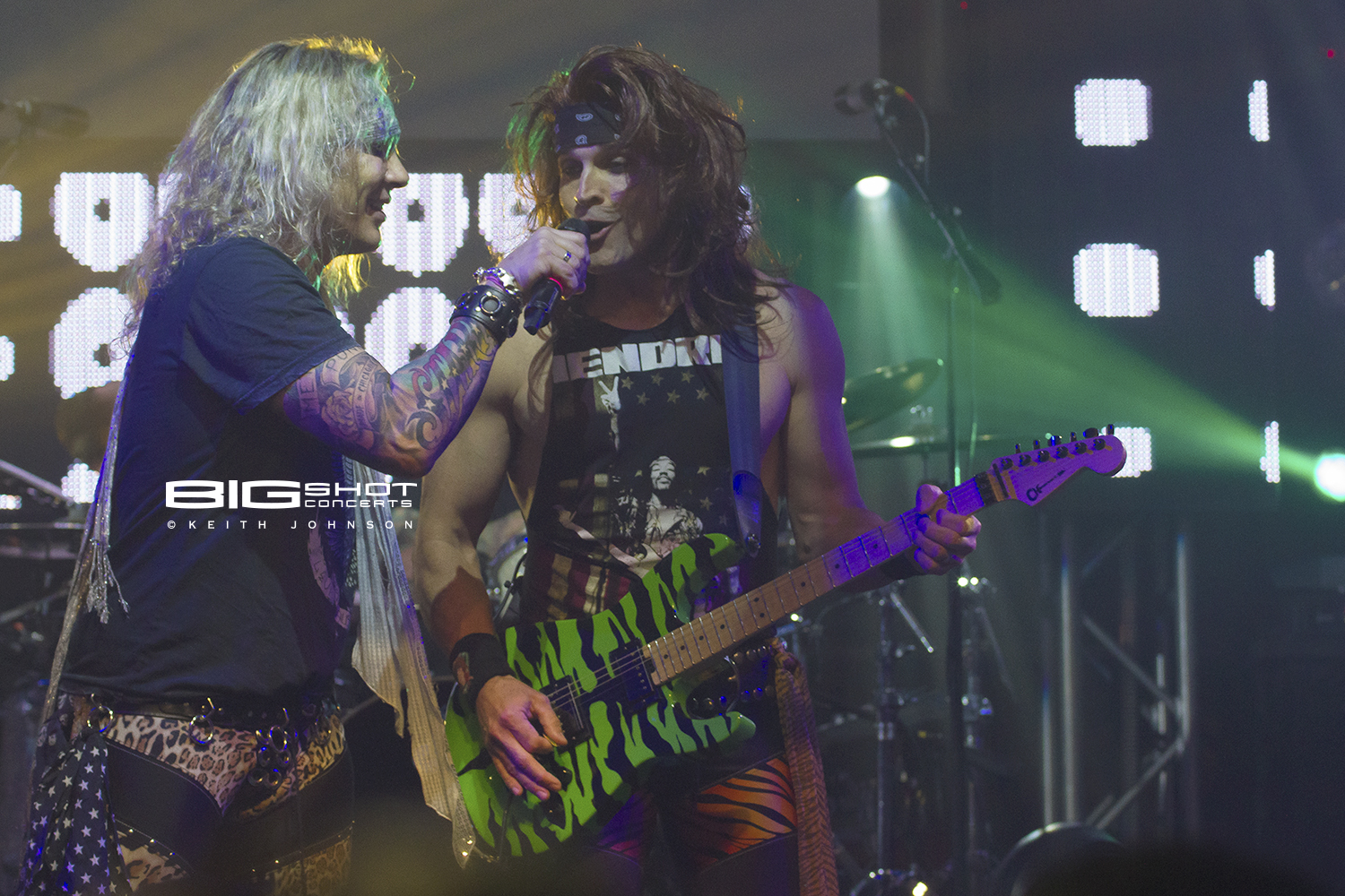 Michael Starr and Stachel during Steel Panther 2017 Girls in a Row Tour