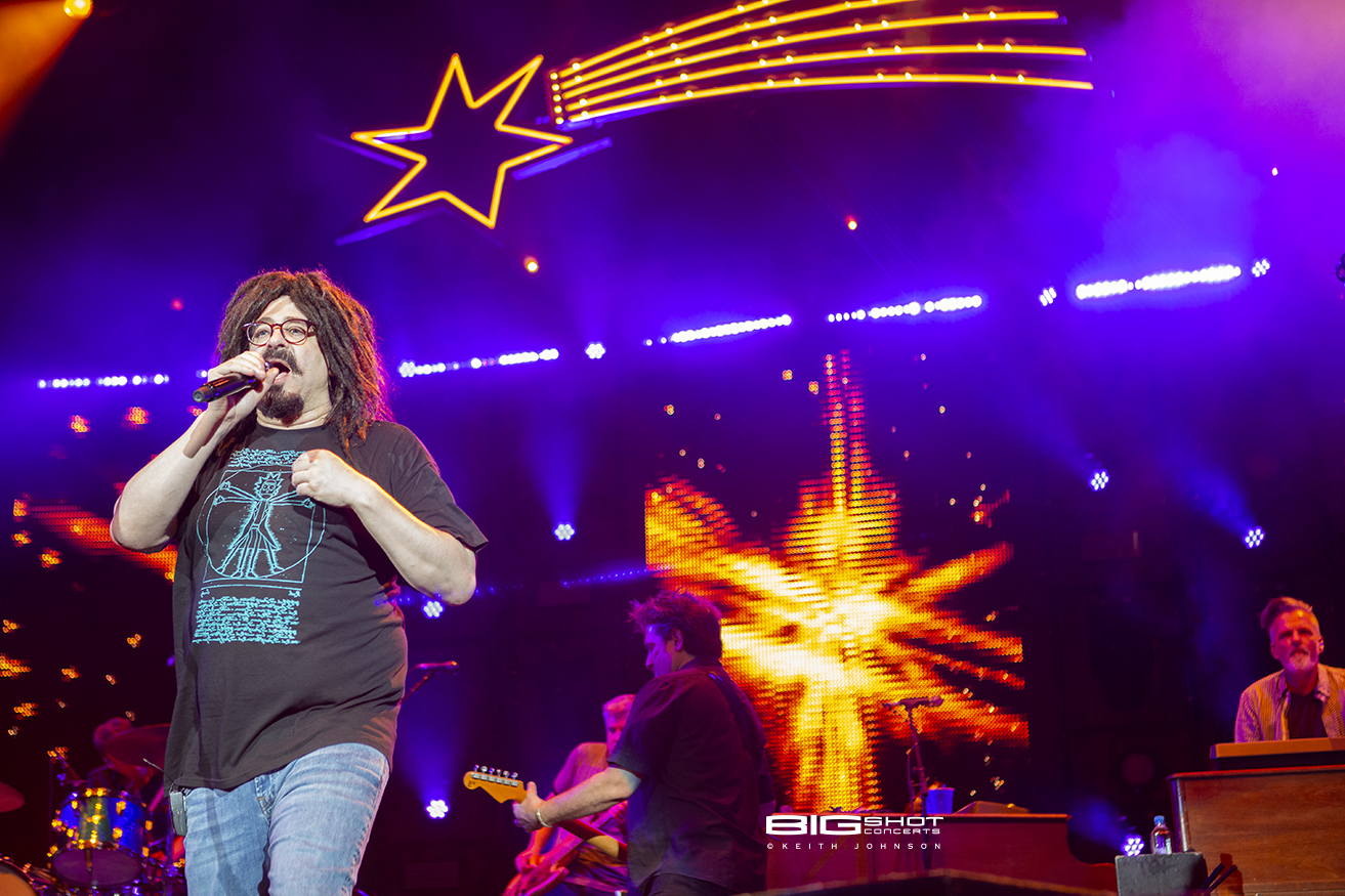 Adam Duritz on stage with Counting Crows