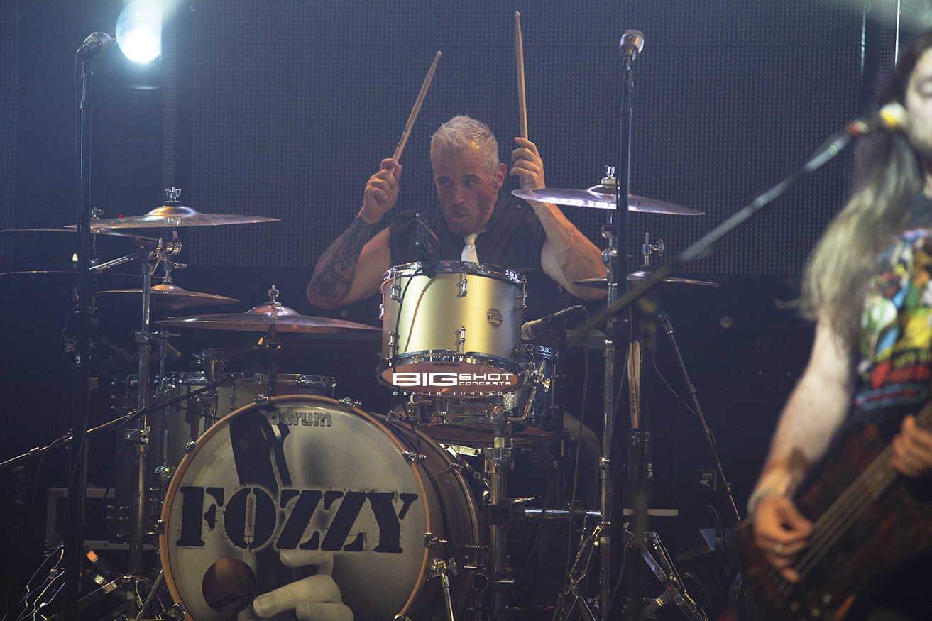Fozzy Drummer Plays at Culture Room