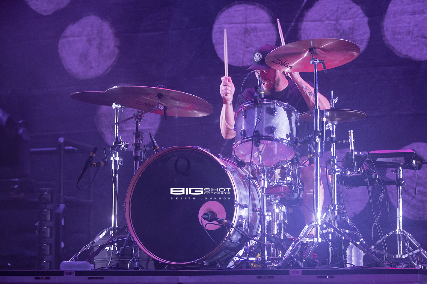 Thrice Drummer Performs During Rockstar Energy Disrupt Festival