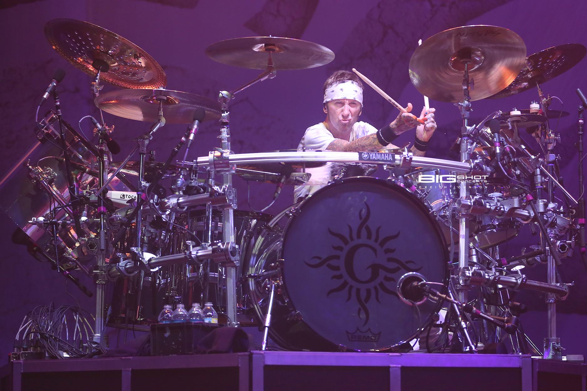 Drummer Shannon Larkin - Godsmack US Fall Tour 2019