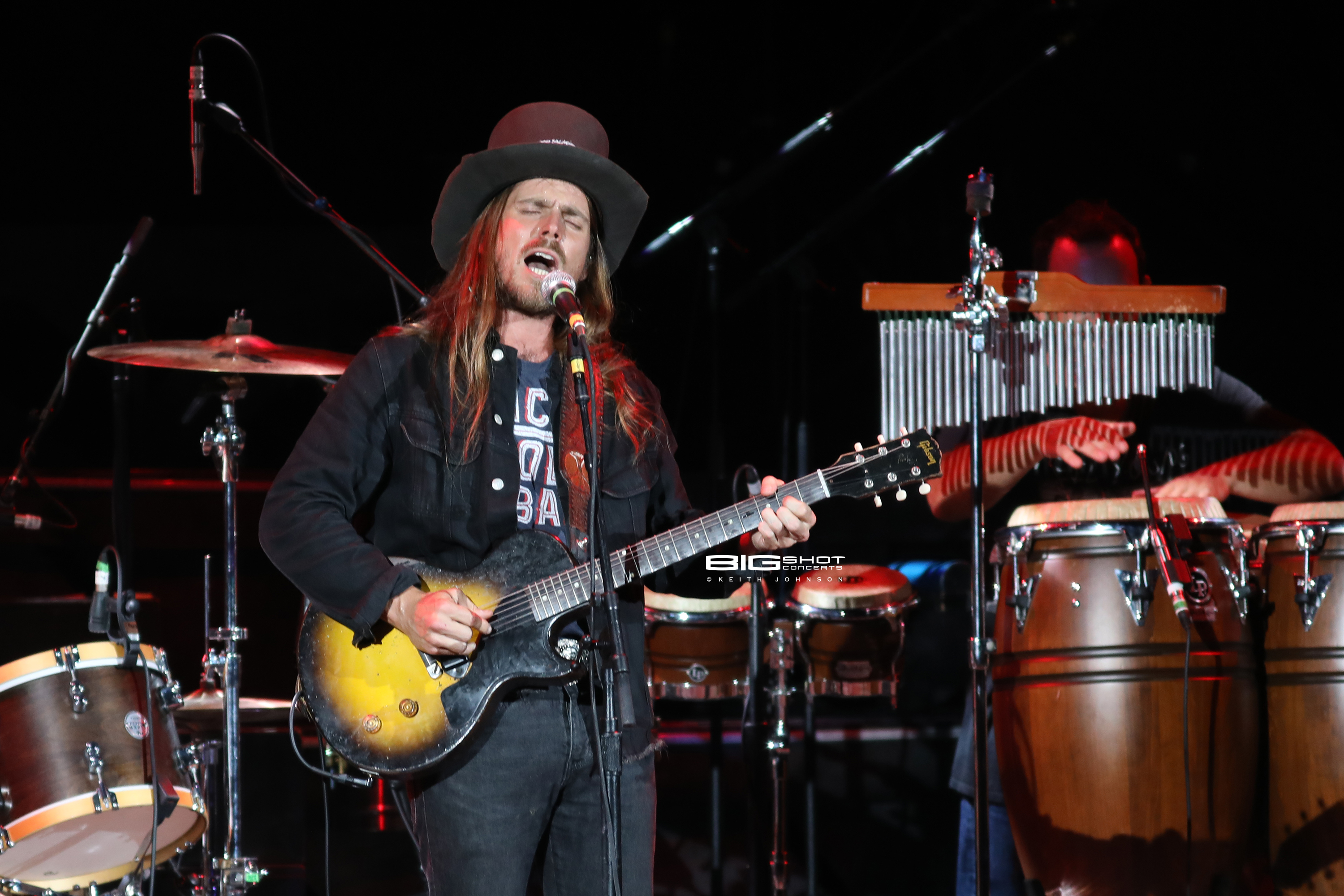 Lukas Nelson on Stage at Coral Sky Amphitheatre