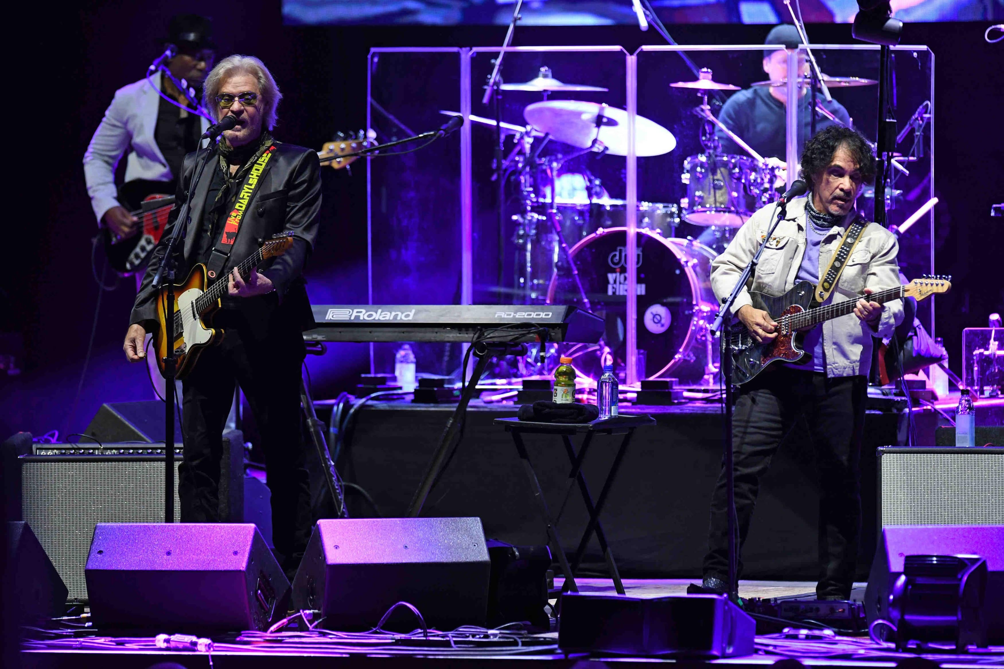 Hall and Oates take the stage in Hollywood, Florida.
