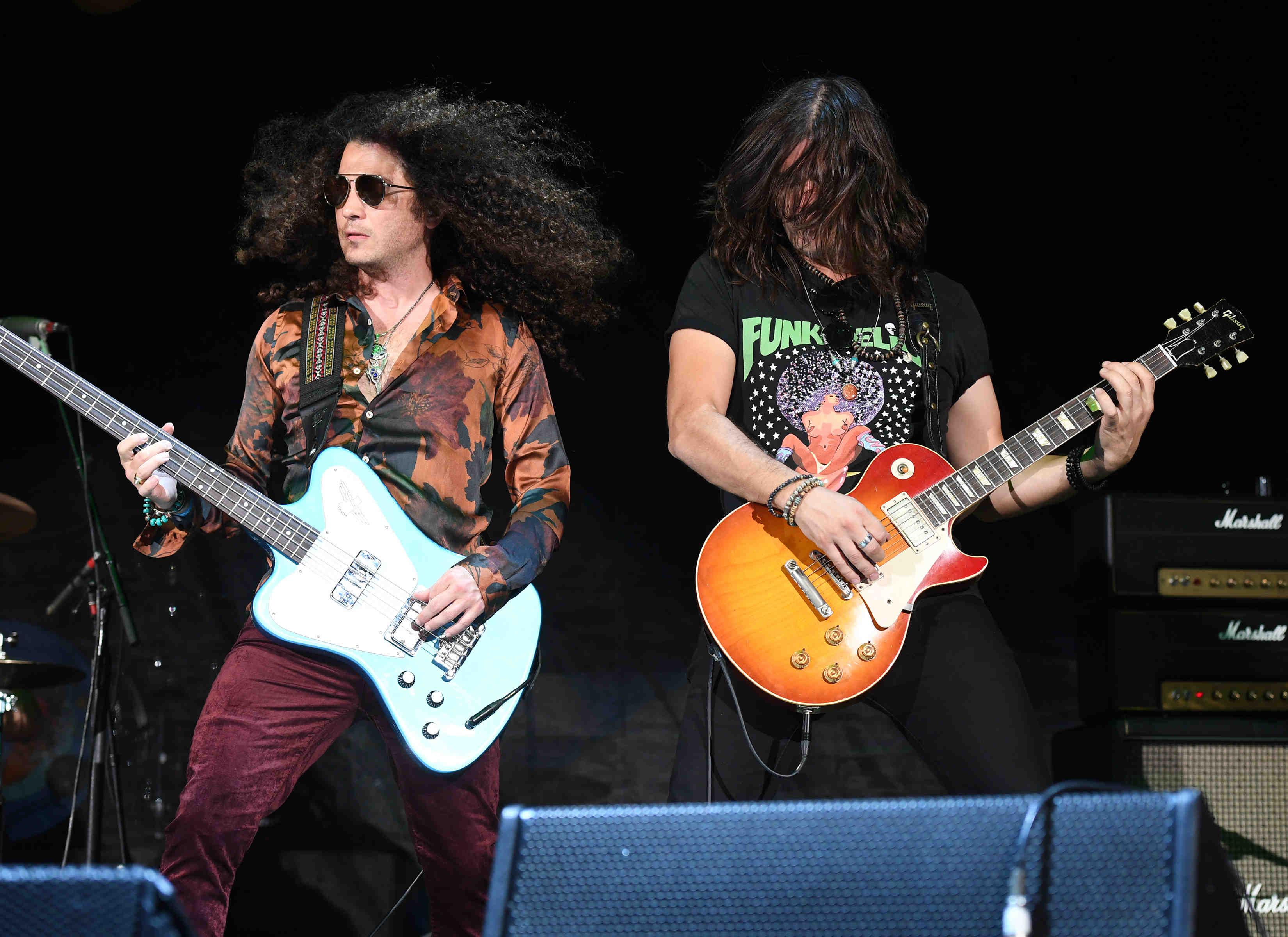 Guitarist John Notto and Bassist Justin Smolian of Dirty Honey.
