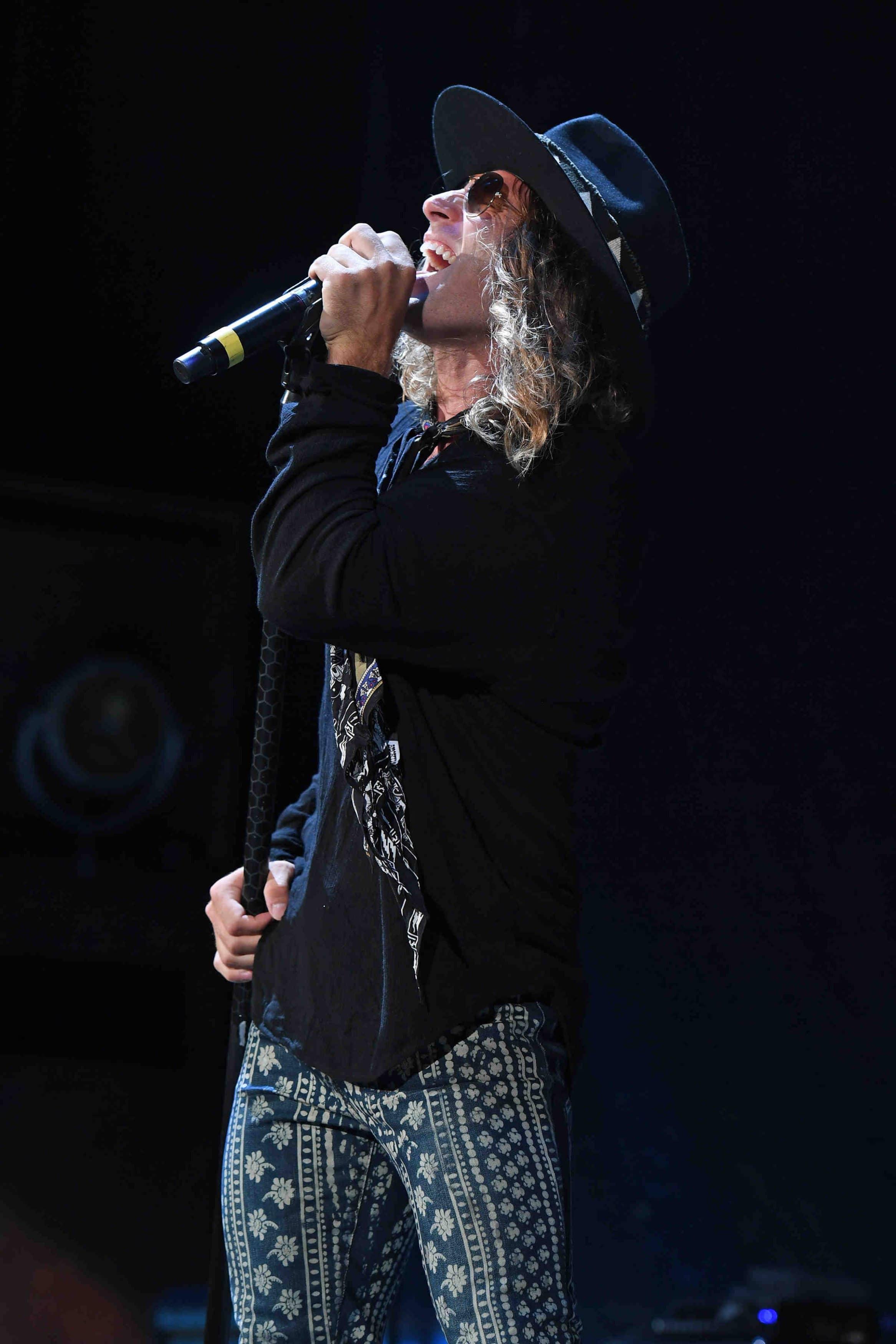 Singer Marc LaBelle performs in West Palm Beach, Florida